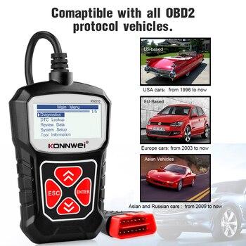 KONNWEI KW310 OBD2 Scanner for Auto OBD 2 Car Scanner Diagnostic Tool Automotive Scanner Car Tools Russian Language PK Elm327 2