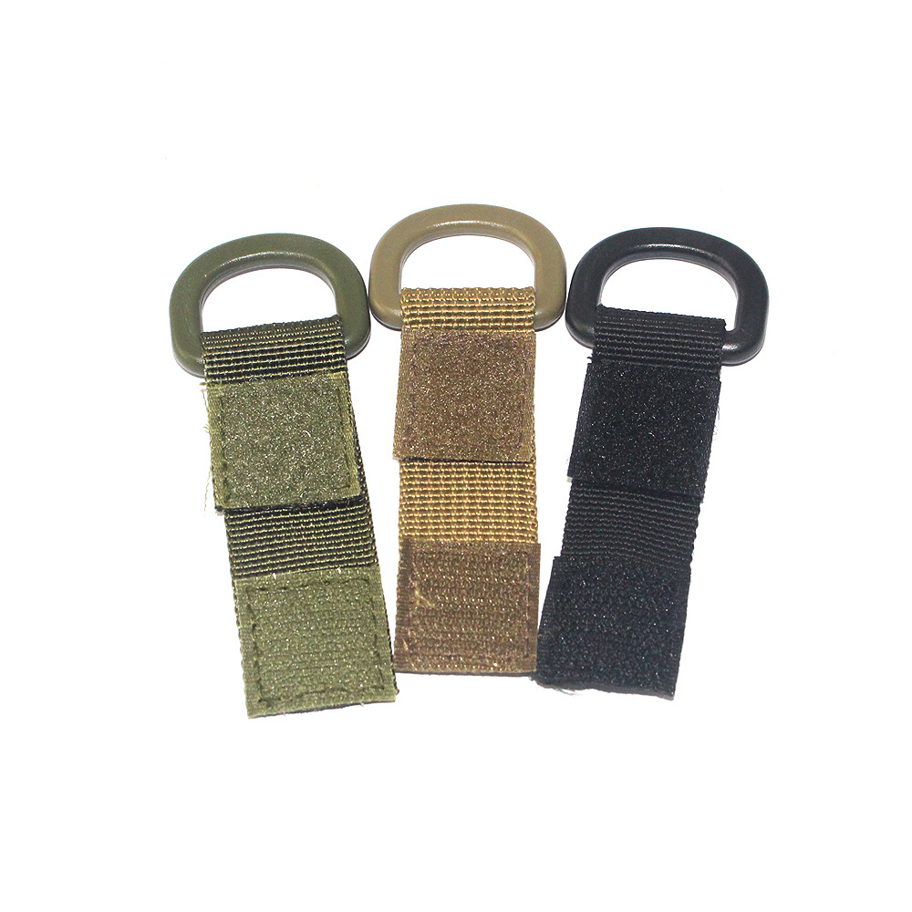 Wilderness Survival Survival Tool Multi-functional Nylon Webbing Portable Waist Hanging Buckle Velcro Key Chain Hanging Buckle