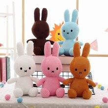 30cm Large Rabbit Plush Doll Toy Kids Sleeping Back Cushion Cute Bunny Baby Stuffed Accompany Doll Xmas Gift High Quality