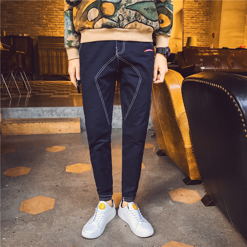 Spring And Autumn New Style Slim Fit Color Jeans Aberdeen-Style Fashion MEN'S Jeans