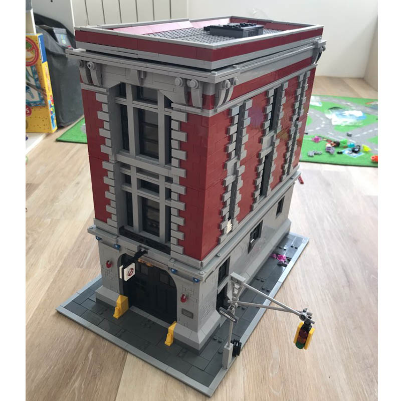 16001 Lepining City Blocks Ghostbusters Firehouse Headquarters Haunted House Architecture Building Blocks Set 75827 Toys Gift