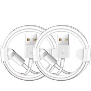2 PCS USB Charging Cable for iPhone 7 8 Plus 6 6S Plus XS 11 Pro Max X XR SE iPad mini 2 Air 2 USB Data Sync Line Charger Cables