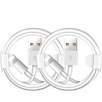 2 uds Cable de carga USB para iPhone 7 7 Plus 6 6S Plus XS 11 Pro Max X XR SE iPad mini 2 de aire 2 sincronización de datos USB cargador de línea Cables|Cables para teléfonos móviles|Teléfonos y telecomunicaciones -