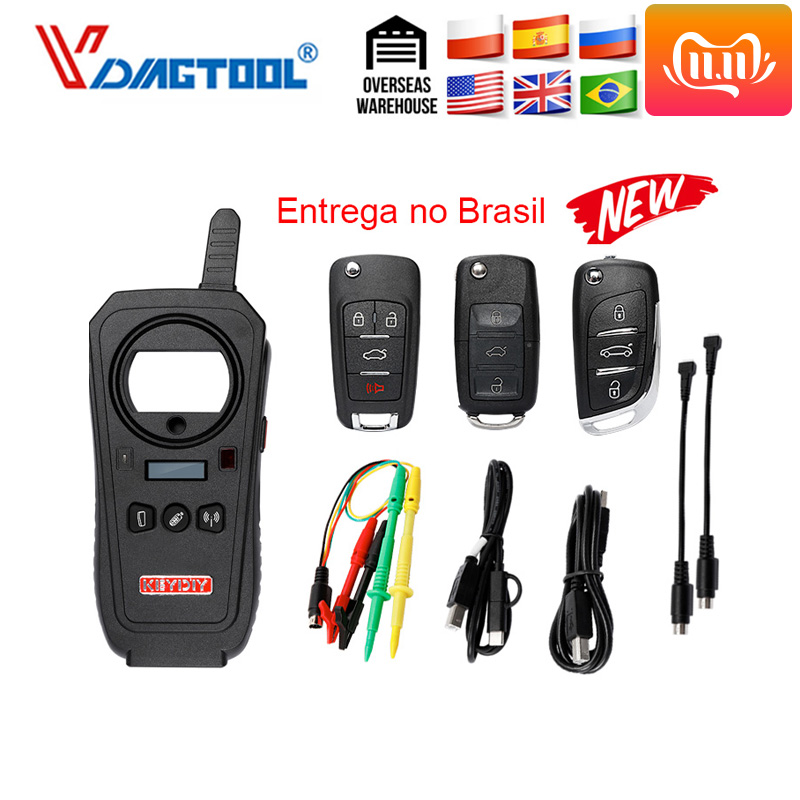 Vdiagtool KEYDIY KD-X2 Car Key Garage Door Remote kd x2 Generater Chip Reader Frequency  with 96bit 48 Transponder Copy Function