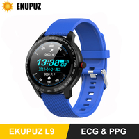 EKUPUZ L9 Smart Watch ECG PPG Fitness Traker Information Push Phone Call Reminder Heart Rate Monitor Smartwatch for Android IOS