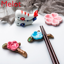 Rest Chopstick-Rack Kitchen-Unit Household Spoon-Tray Animal-Ornaments Ceramic Small