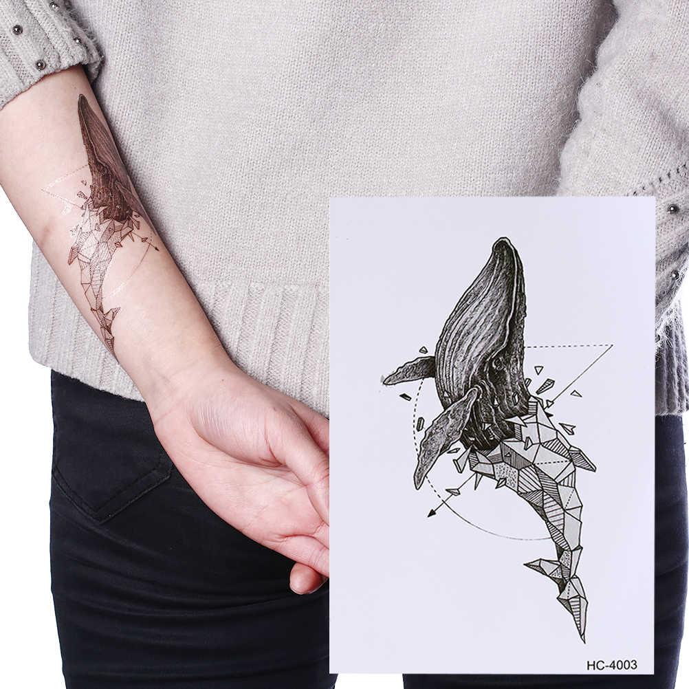 Cartoon Fuchs Katze Eule Wolf Temporäre Tattoos Auf Die Körper Für Frauen Mann Löwen Pferd Blume Gefälschte Tattoo Wasserdicht Tattoo aufkleber