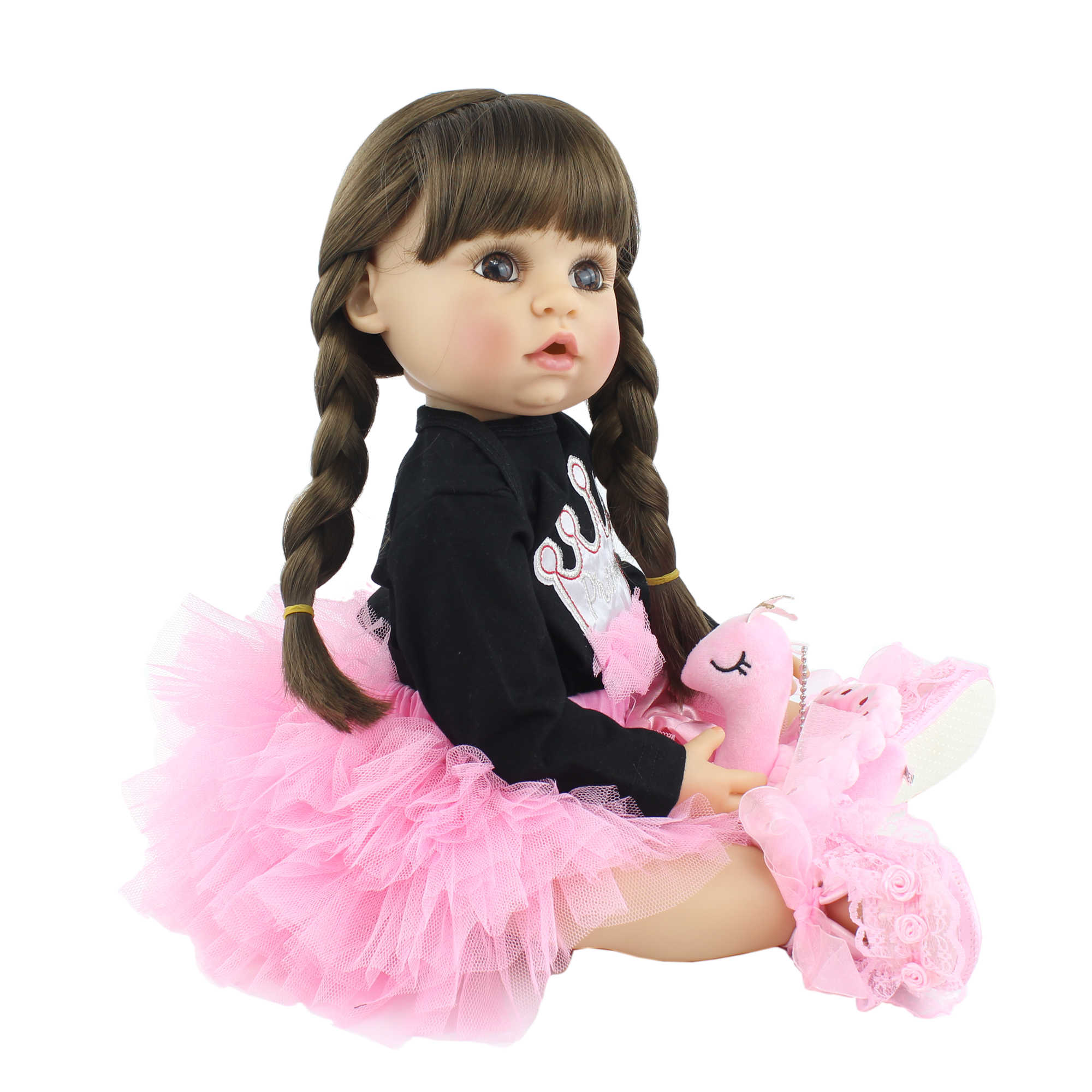 BZDOLL 55 ซม.ซิลิโคนRebornตุ๊กตาของเล่นตุ๊กตาเหมือนจริง 22 นิ้วไวนิลAliveทารกแต่งตัวเจ้าหญิงสาววันเกิดของขวัญ