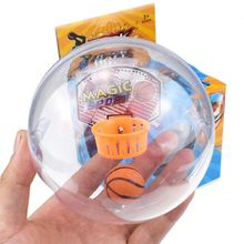 Mini Handheld Basketball Shooting Game Ball Toys With Light & Sound Wrist and Palm Exercise Reduce Stress For Kids Adults(China)