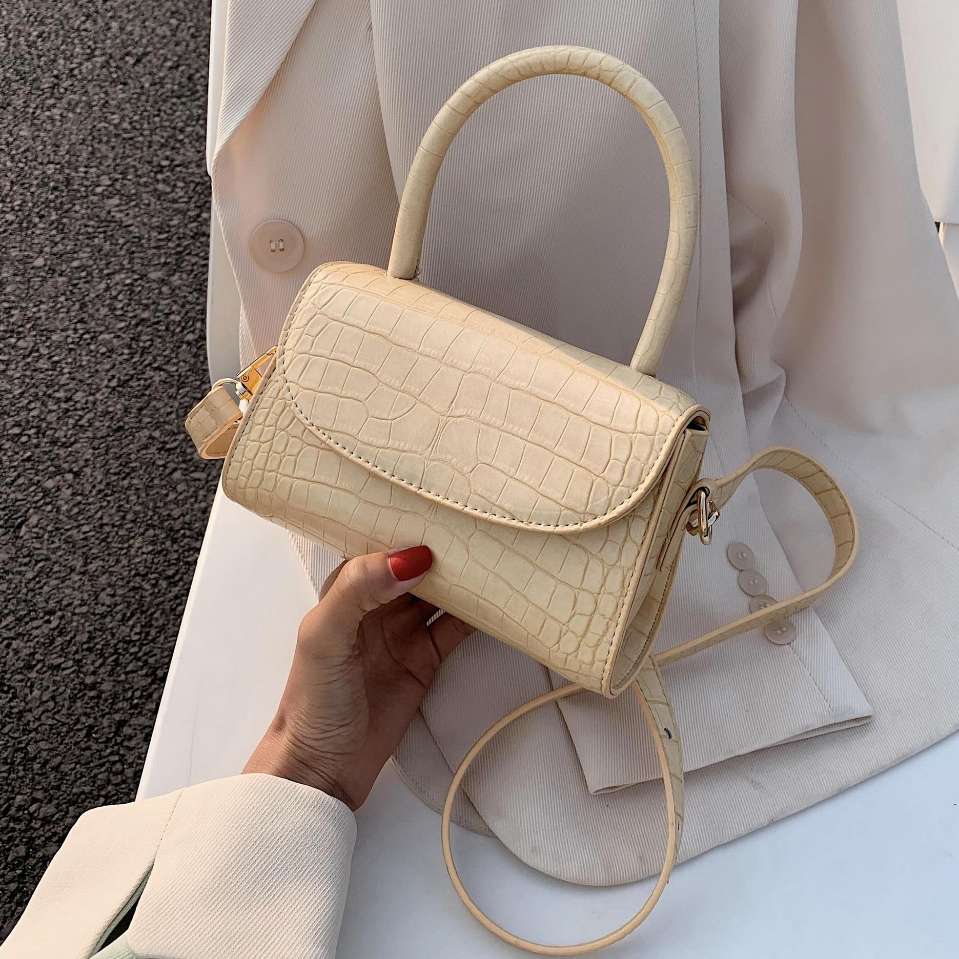 MINI Stone Pattern Small PU Leather Crossbody Bags For Women 2020  Shoulder Handbags Female Travel Totes Cross Body Bag