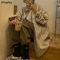 Bluse Frauen Harajuku BF Stil Gestreiften College Beliebte Jugendliche Übergroßen Shirts Stilvolle Chic High Street Damen Tops und Blusen
