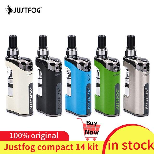 Набор испарителей JustFog Compact 14, встроенный аккумулятор 1500 мА · ч, электронная сигарета, набор с 1.2 Ом/Ом, Бак клиромайзер Q14, набор для вейпа
