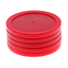 5 Pieces 62mm Mini Air Hockey Round Pucks Kids Adults Table Hammer Games