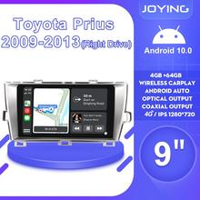 Radio Multimedia Car-Head-Unit Playerfor Toyota Prius Android-10 2009 Silver DVD 2-Din