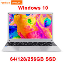 15,6 zoll 4GB RAM 128GB 256G SSD Notebook Intel E8000 Quad Core Laptop Student netbook mit HDMI wiFi Bluetooth für büro(China)