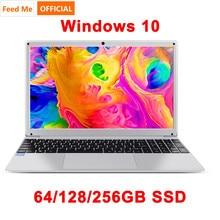 15.6 Inch 4GB RAM 128GB 256G SSD Notebook Windows 10 Intel E8000 Quad Core Laptop  with HDMI WiFi Bluetooth Full Layout Keyboard