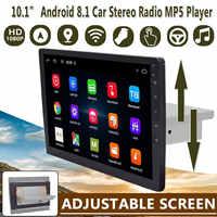 """Reproductor Multimedia de coche de 9 """"/10,1"""" estéreo 1Din para Android 8,1 con pantalla con wifi ajustable, bluetooth, GPS, navegador, reproductor de Radio"""