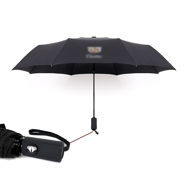 Automatic Folding Umbrella For Cadillac XT5 SLS ATS SRX XTS CTS BLS Windproof Telescopic Umbrella Big Parasol Auto Accessories