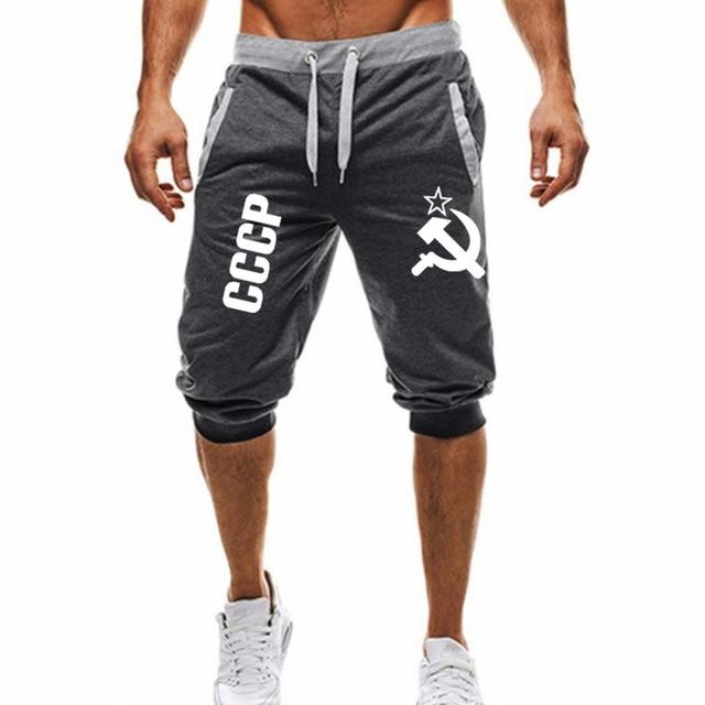 Men's Breeches Sports Casual Tight Harem Soft 3/4 Fashion New Brand Men's Sweatpants Summer Comfort Short Masc