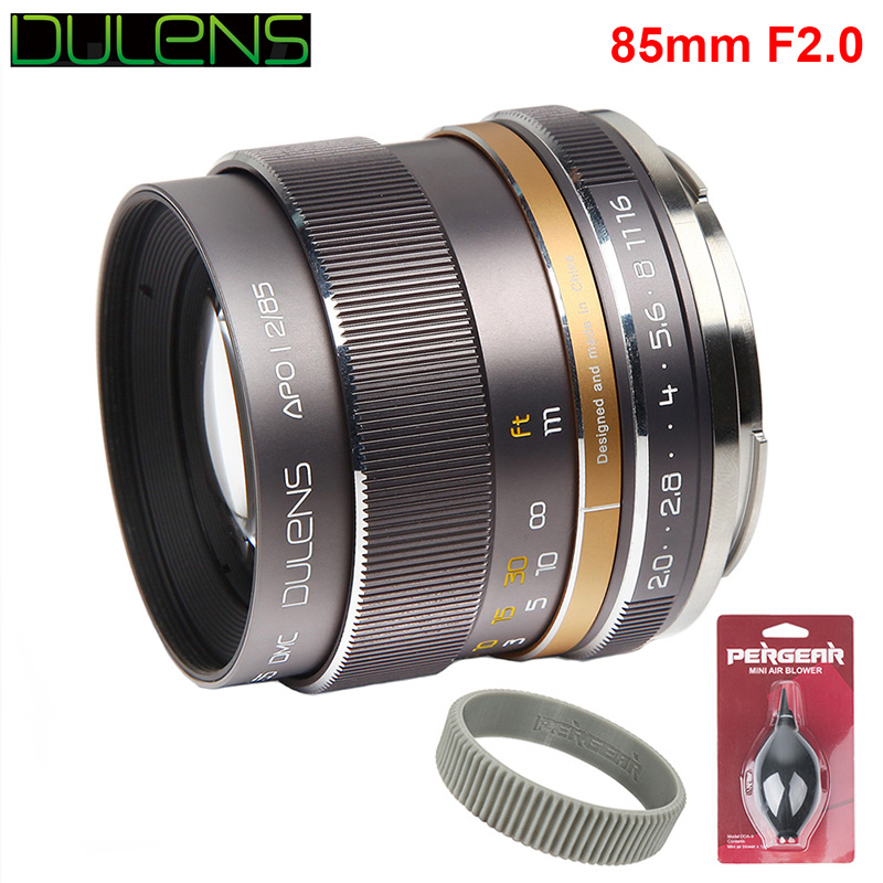 DULENS APO 85mm F2.0 Apochromatic Full Frame Lens for Canon EF Mount Camera 5D Mark IV 6D II All-Metal Construction Only 350g