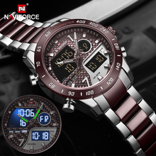 NAVIFORCEผู้ชายนาฬิกาดิจิตอลนาฬิกาLEDกีฬาทหารนาฬิกาข้อมือควอตซ์ชายLuminousนาฬิกากันน้ำนาฬิกาRelogio Masculino