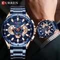 CURREN men New Fashion Unique Design Watch Luxury business wristwatch sport chronograph men's watches Quartz Date clock relogio
