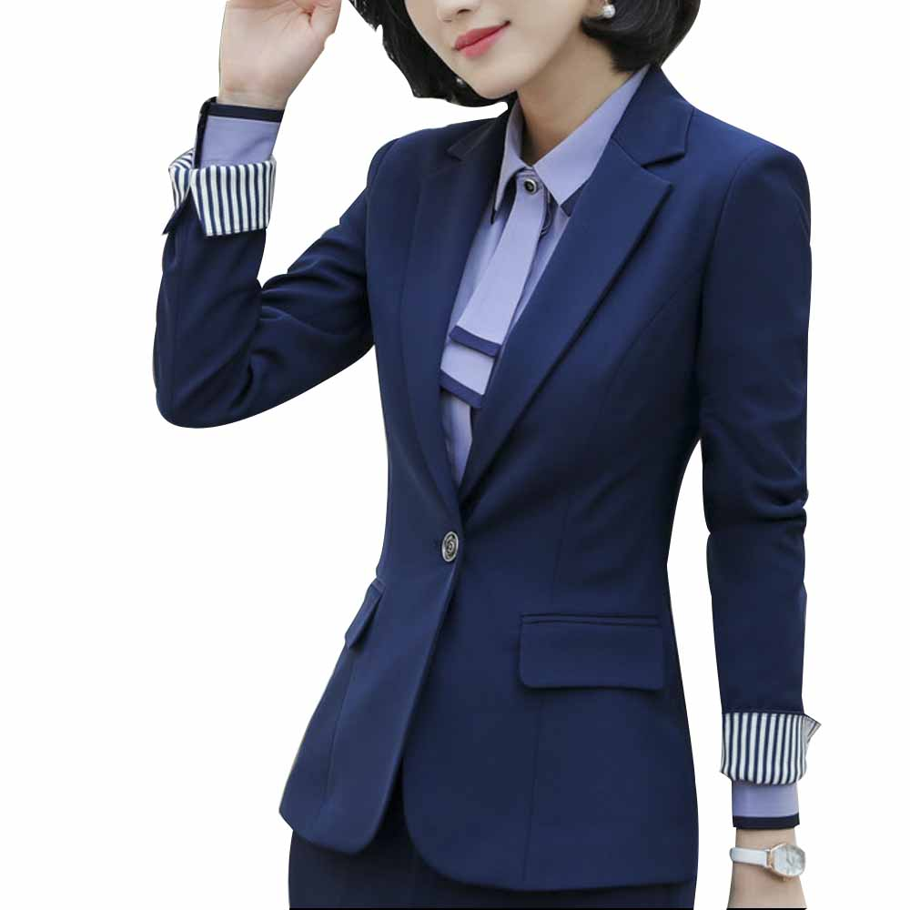 2018 Spring And Autumn Women Blazer Tradition OL Office Classic Sleeve Occupation Suit Sale Correct Wear To Work Suit