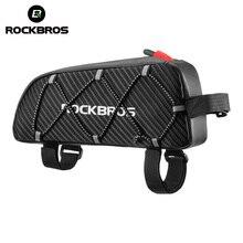ROCKBROS sac de vélo réfléchissant avant cadre supérieur Tube sac ultra léger Portable vélo colis grande capacité poche cyclisme accessoires