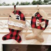 Christmas Home Decor Stockings Pet Socks Christmas Socks Gift Bags Holiday
