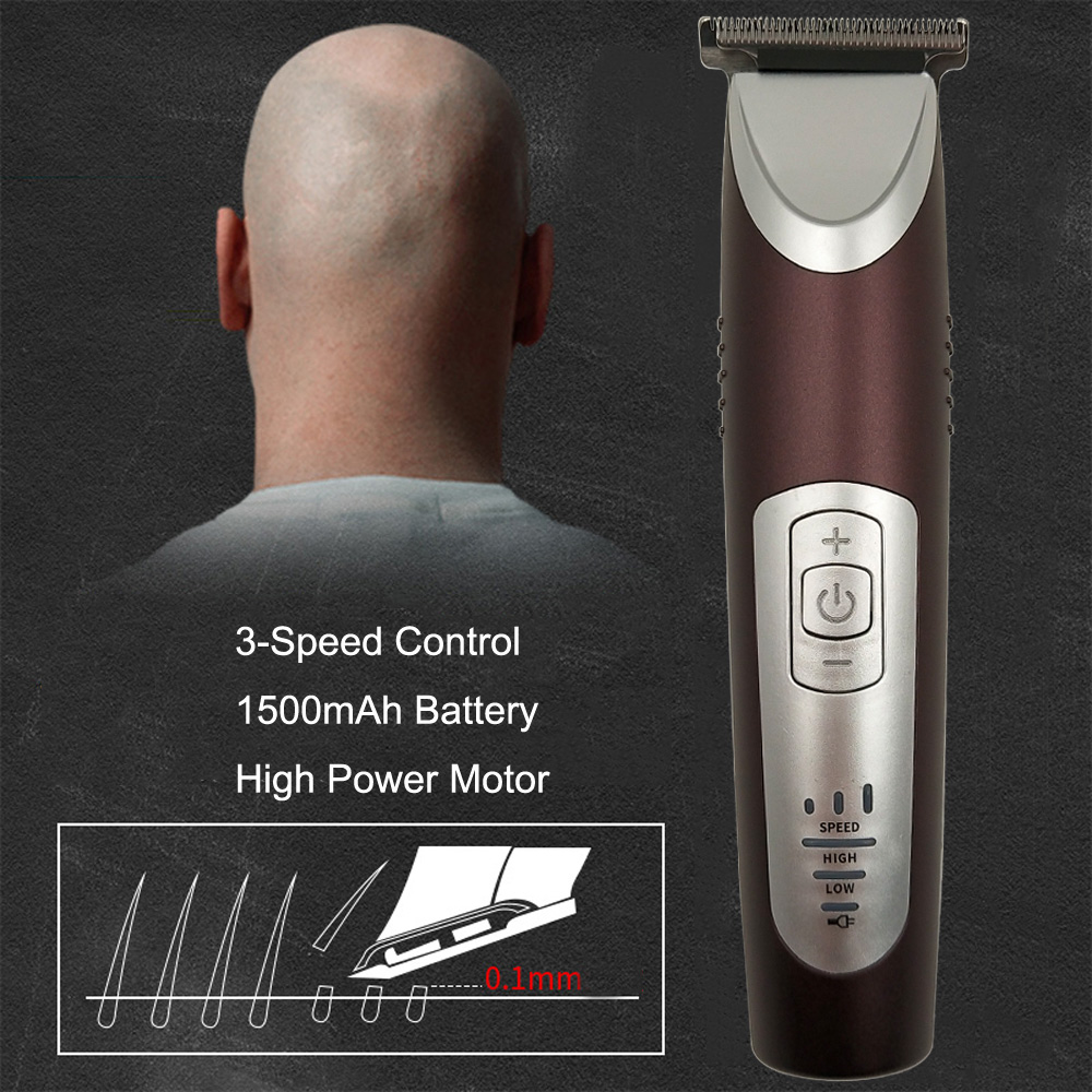 PULIS Hair Clipper Professional 0.1mm Bald Trimmer 100-240V Rechargeable 3-Speed High Power Hair Shaver Machine Home Barber Tool