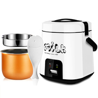 1.8L Mini Multifunction Rice Cooker 220V 300W Small Portable Electric Cook Machine for Home Travel Student Child Baby 1 3 People