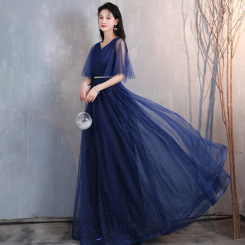 Glitter Blue Long celebrity dresses 2020 New Spaghetti Strap Sweetheart Zipper Back Formal evening party gowns Real Video