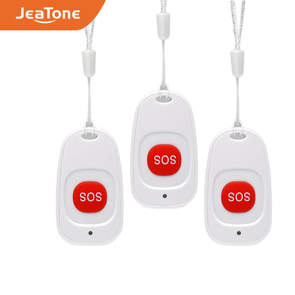 3pcs Wireless SOS Emergency Button Alarm Home Burglar Alarm Panic Button Alarm Sensor 433MHz For PS85 Security Alarm System