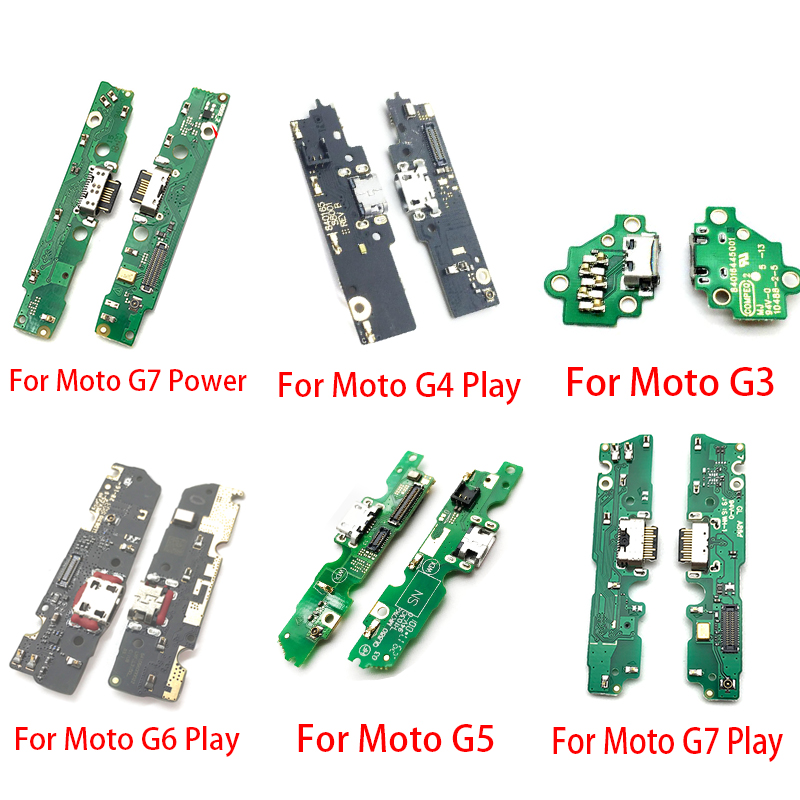 New Dock Connector Charging Port Flex Cable For Motorola Moto G3 G5 G4 G6 G7 Play One Vision Action Power Flex Ribbon