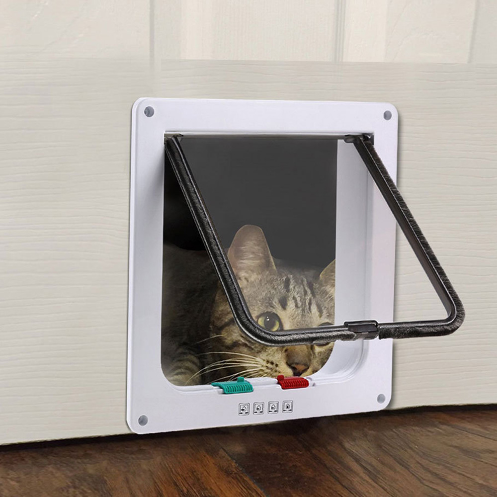 1 pc Security Flap Door Pet Dog Cat Kitten  Animal Small Gate For Supplies