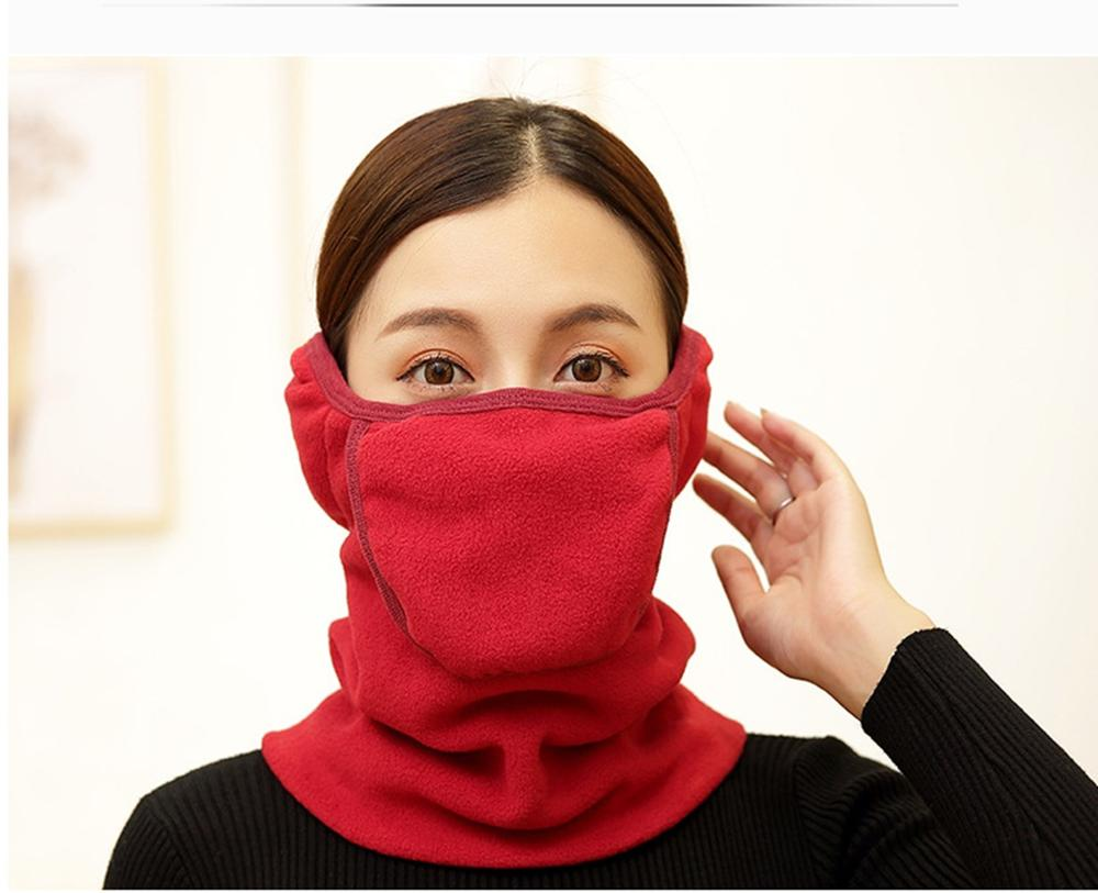 Winter Warm Mask Outdoor Riding Face Protector Ear Mask Collar Three-in-one Cover Cold Scarf Helmet Neck Warmer Face Mask