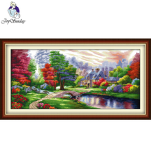Joy Sunday,The Ambilight,cross stitch embroidery set,Scenery pattern cross stitch,Needlework counted cross-stitch patterns joy sunday wine cross stitch embroidery set cross stitch pattern needlework counted cross stitch patterns chinese cross stitch