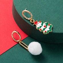 Рождественские украшения креативные серьги в виде белых шариков