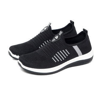 Women Flat Shoes Knit Woman Casual Slip On Vulcanized Female Mesh Soft Breathable Women's Footwear For Ladies Flats - discount item  40% OFF Women's Shoes