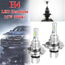 цена на Car Headlight Bulbs Kit H4 6000k 9003 HB2 Super White CSP Fog Lights Low Beam Canbus LED Lamps/Light Bulbs For Car