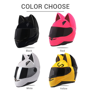Image 4 - NITRINOS Motorcycle Helmet Women Personality Moto Capacete Black Helmet Full Face Moto Helmet Fashion Motorbike Helmet