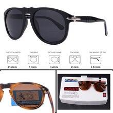 Luxo steve clássico piloto do vintage estilo óculos óculos de sol homem polarizado condução óculos marca design óculos de sol 649