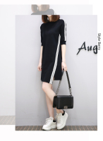 New Autumn Style Women Dress Cowl Neck Pencil Dress Knee Length Women's Casual Bodycon Dresses Clothing