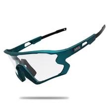선글라스 블랙 Photochromic 사이클링 안경 UV400 MTB 자전거 자전거 타고 TR90 야외 스포츠 편광 된 안경 1/5/6 렌즈