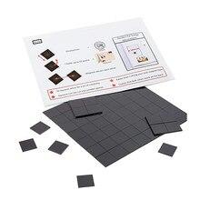 35PCS 20mm Runde Magnetische Aufkleber Fit Glas Cabochon Vision Bord Kühlschrank Magnet DIY Kühlschrank Magnet Tafel Aufkleber