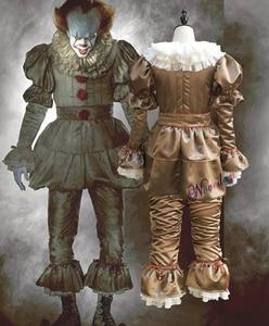 Image 2 - Killer Clown Cosplay Kostuum Maskerade Partij Office Party Apparatuur Masker Killer Camouflage Halloween Kostuum