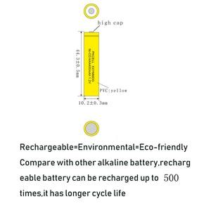 Image 2 - 6 шт. PKCELL AAA nicd Батарея 400 мАч 1,2 в перезаряжаемая батарея Кнопка NICD Топ для солнечных ламп без PCB