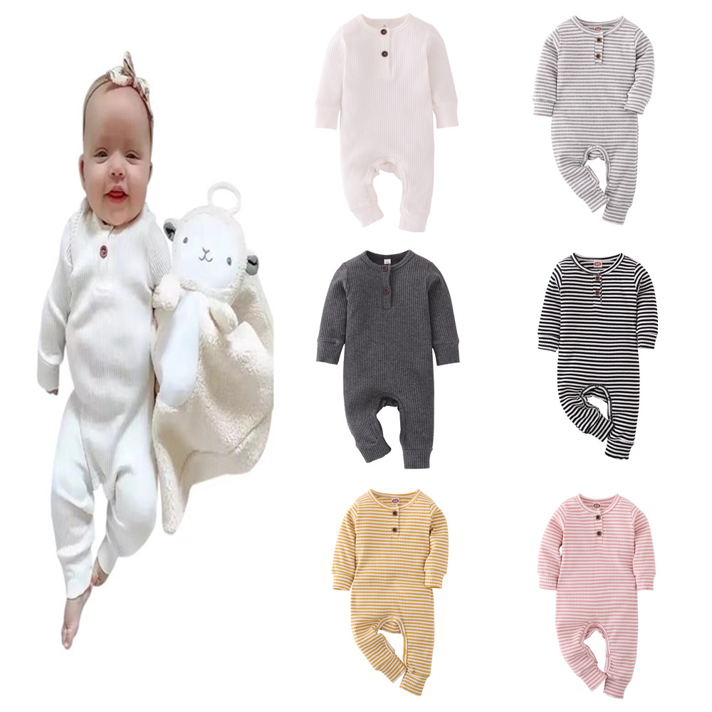 Bebê recém-nascido roupas da menina do menino unisex macacão de algodão manga longa da criança macacão infantil roupas do bebê