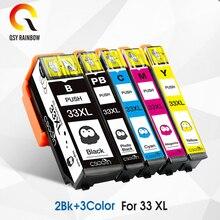 5PK 33XL совместимый чернильный картридж для принтера Epson XP-530 XP-630 XP-830 XP-635 XP-540 XP-640 XP-645 T3351 T3361 чернила для принтера