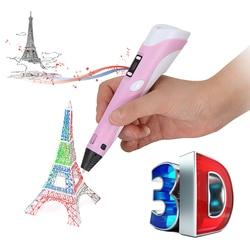 HooMore 3D Printer Pen 3D Drawing Pens  LED Screen  ABS/PLA Filament 3D Pens Children Birthday/Christmas gift DIY Drawing